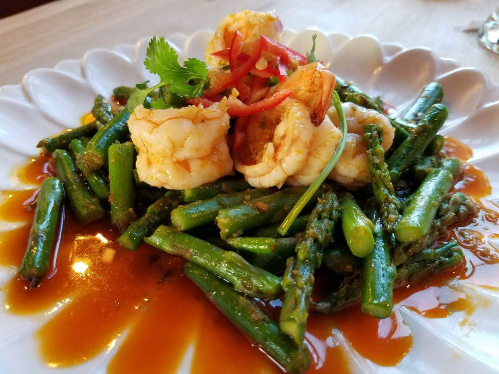 Shrimp and asparagus dinner coupons near Redondo Beach