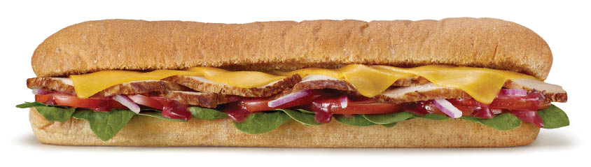 photo of carved turkey sub from Subway in Macomb, MI