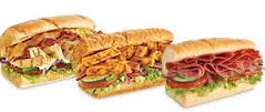 photo of variety of Subway sandwiches