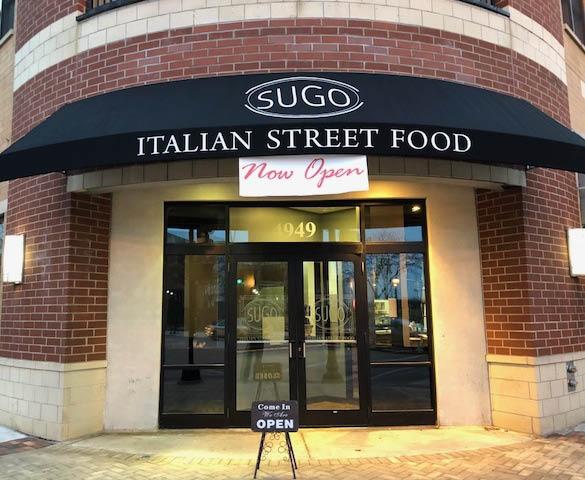 Entrance to Sugo Skokie; Italian restaurant coupons
