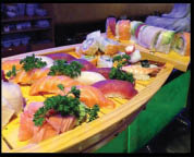 Sushi & Sashimi Boat for 4...we also offer platters and combination dishes, to accommodate parties of 4 or more.