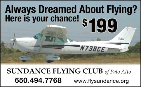 Flying lessons in Palo Alto start as low as $199.