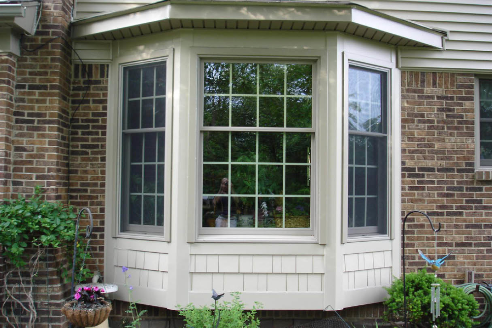 A beautiful vinyl bay window from Sun Home Improvement