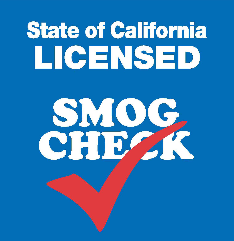 State of California Licensed Smog Check station