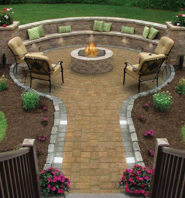 Sunrise Landscaping & Tree Removal - woodfire pits - concrete installation - pavers - landscape design