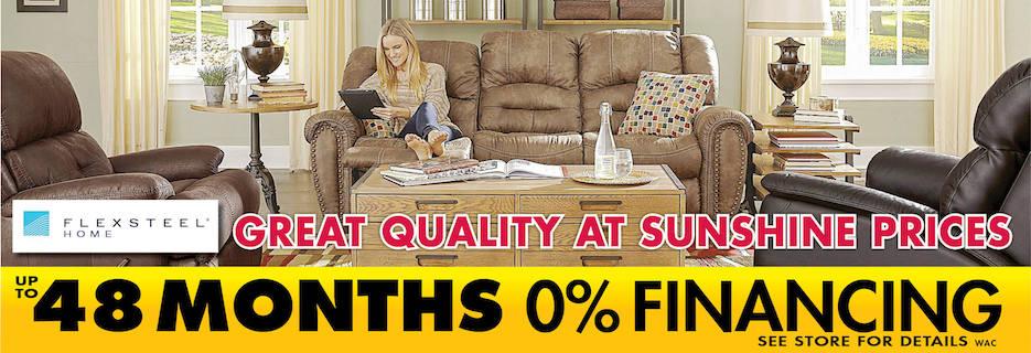 Sunshine Furniture banner Tulsa, OK