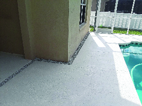 Non skid pool deck surface