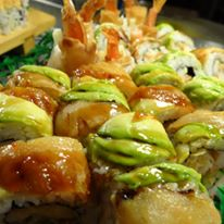 Delicious sushi rolls available at all you can eat