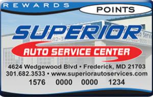 Superior Auto Service Center rewards program