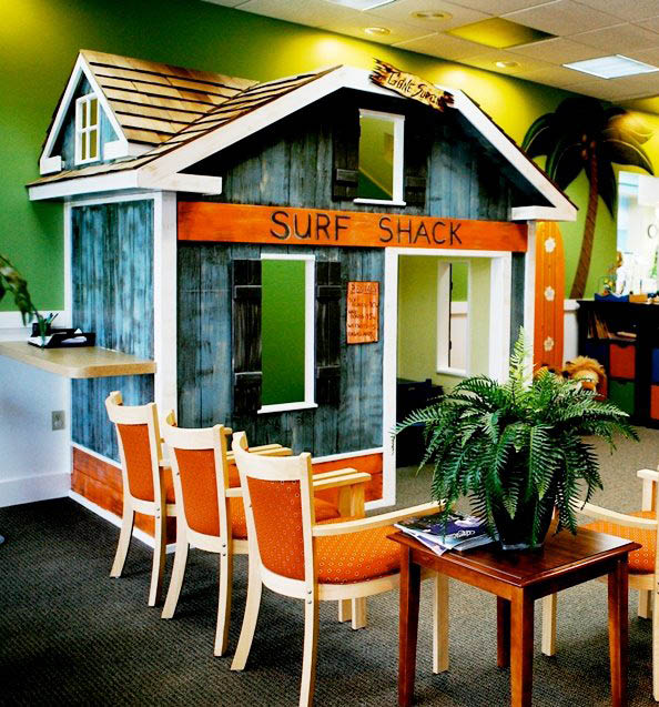 Your kids can enjoy our beach themed dental office where they can learn that going to the dentist can be fun - The Kids' Dentist Surf and Smiles