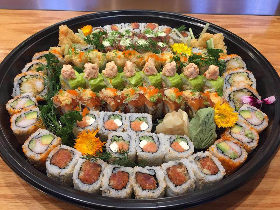 Sushi platter from Fatty Fish Sushi Restaurant in Everett, Washington - sushi restaurants near me - sushi coupons