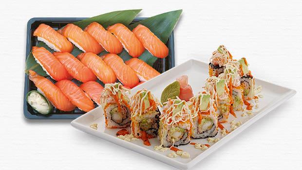 Fresh Sushi Rolls and Sashimi at Tokyo Sushi