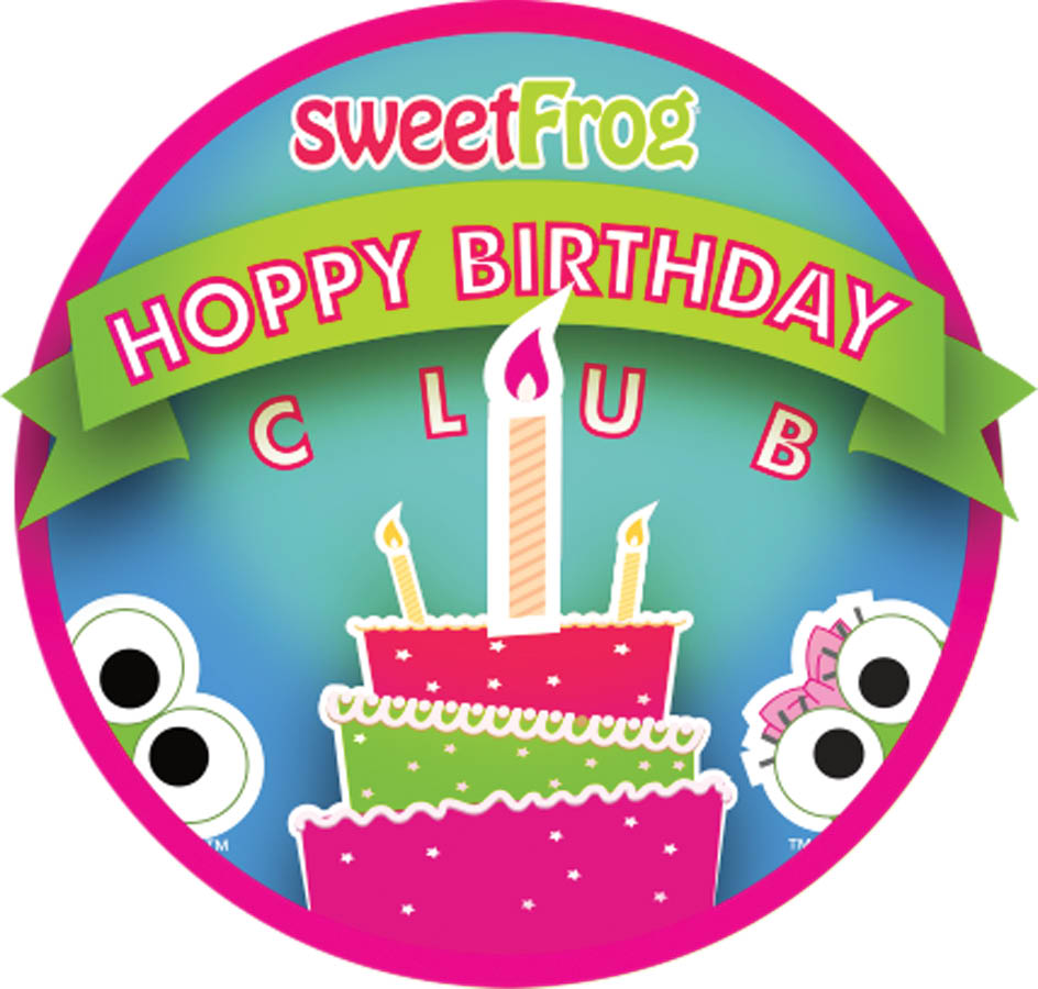 Sweet frog birthday club logo