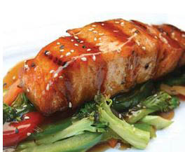 teriyaki glazed salmon Sweet Mandarin Glen Cove NY