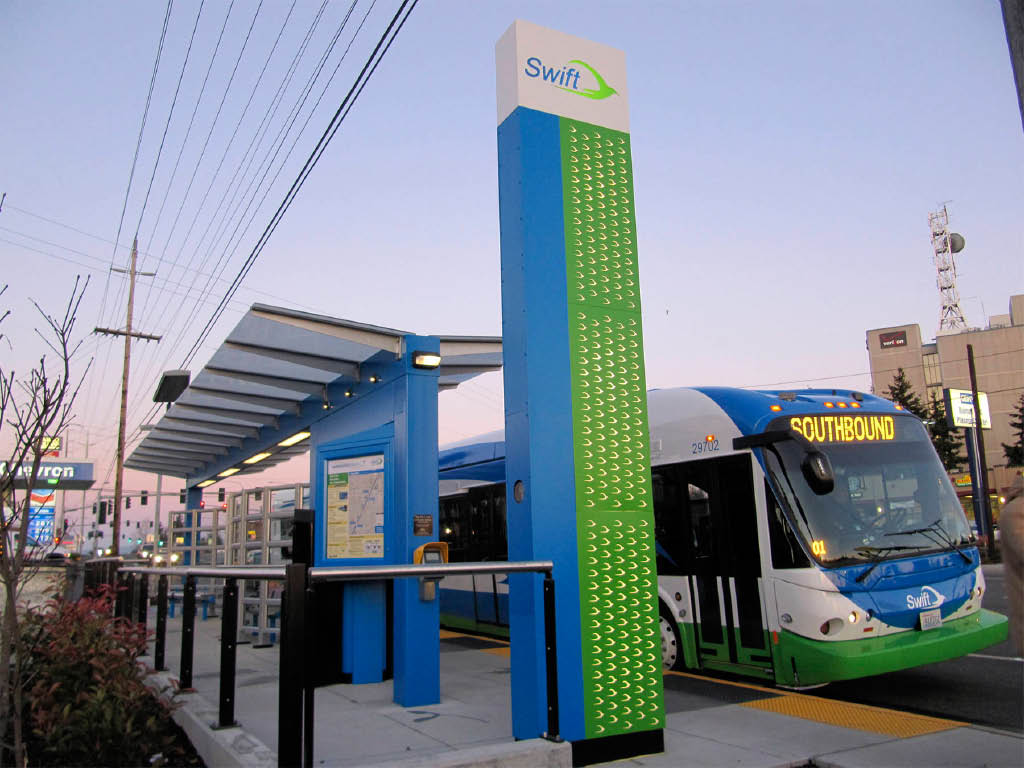Swift Green Line of powered by Community Transit - Snohomish County, Washington - ride the bus - get your ORCA card