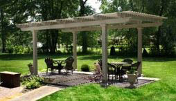 photo of TEMO free-standing pergola from Exterior Designers, Inc. in Valparaiso, IN