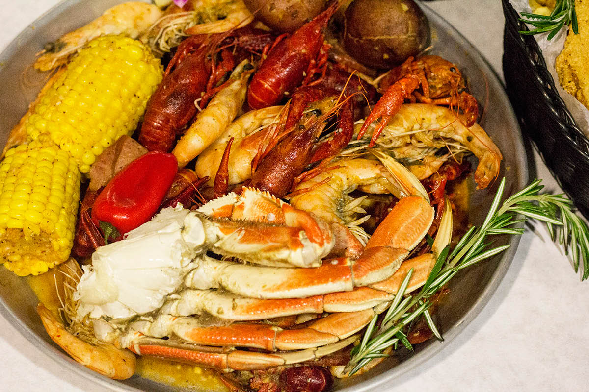 Seafood boil dinner