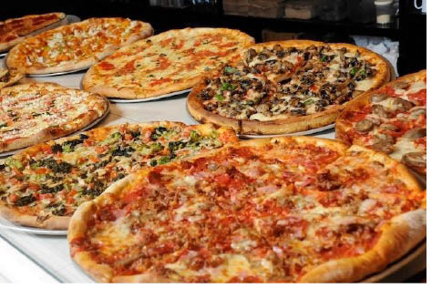 Pizza variety at TJ's Pizzeria Cafe in Franklin NJ & Sussex NJ