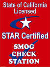 T.O. Smog is a state of California, STAR Certified, Smog Check Station