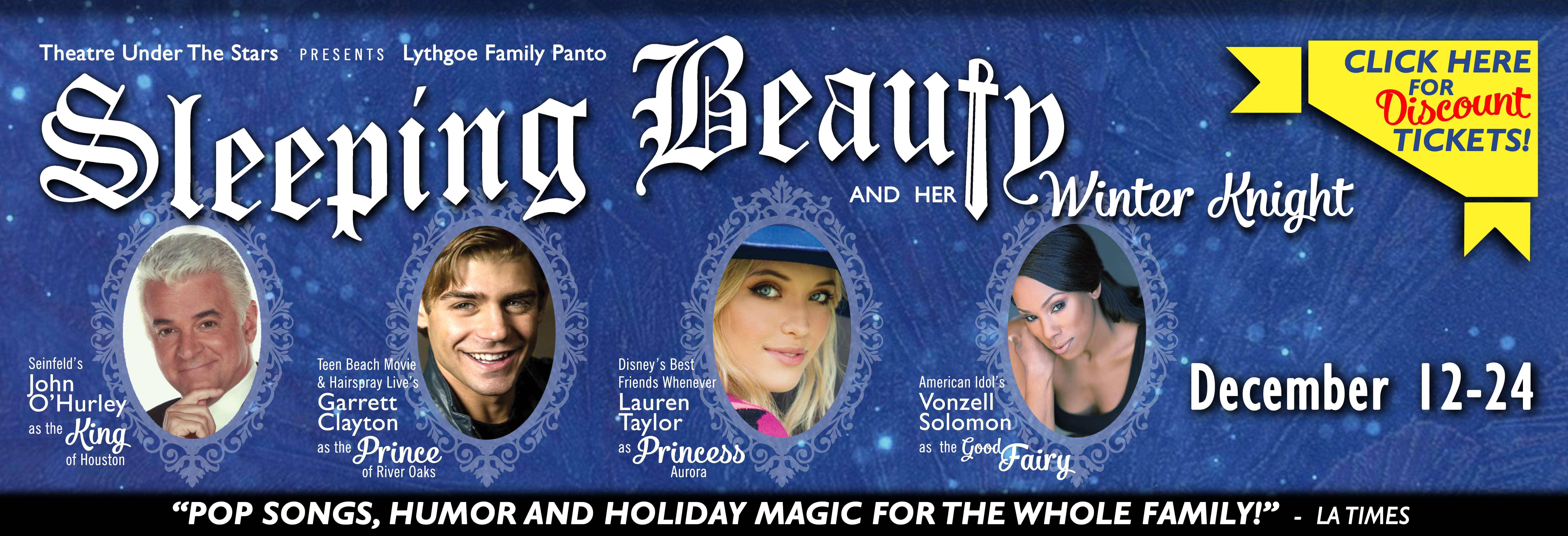 Theatre Under The Stars Presents, Sleeping Beauty And Her Winter Knight, in Houston, TX Banner ad
