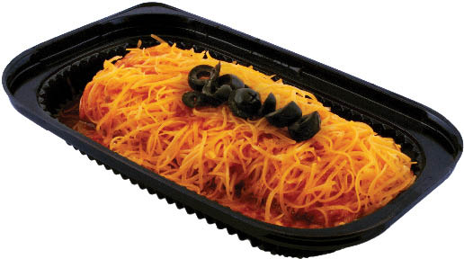 enchilada with cheese and black olives