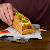 A Taco Bell double Chalupa