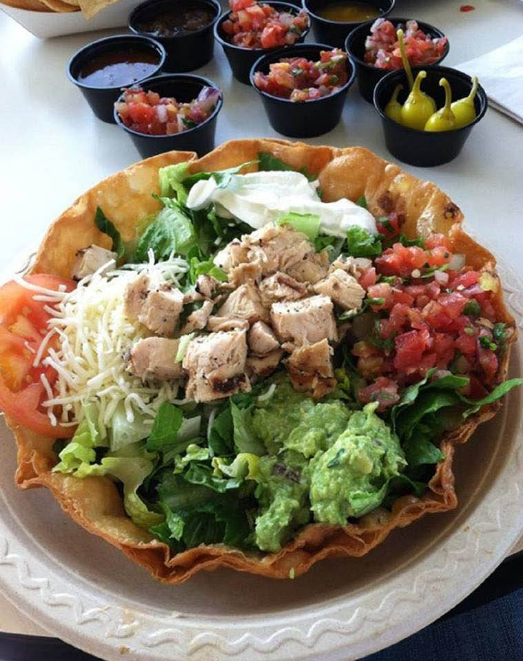 Taco salad near Stevenson Ranch
