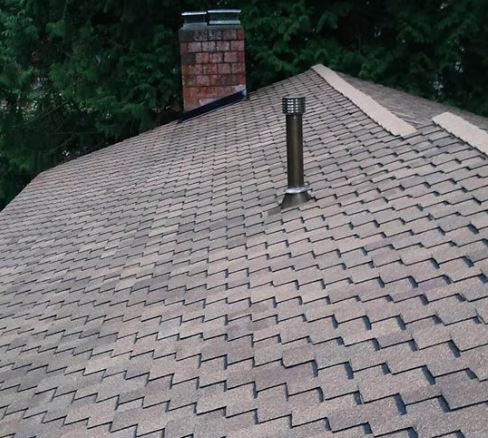 Brand new roof installed by Old Experience Roofing in Tacoma, Washington - professional roofers - roofing companies