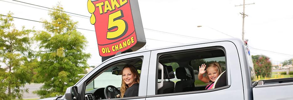 Take 5 Oil Change banner Baton Rouge, LA