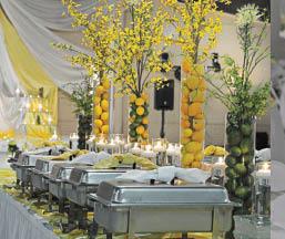 Wedding planning, food service
