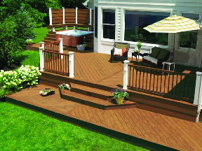 New patio deck for entertaining