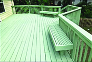 New painted deck by Tallahassee Fence & Deck in Florida