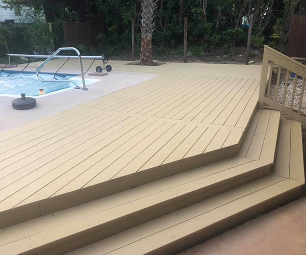 Decking around pool area in Tallahassee