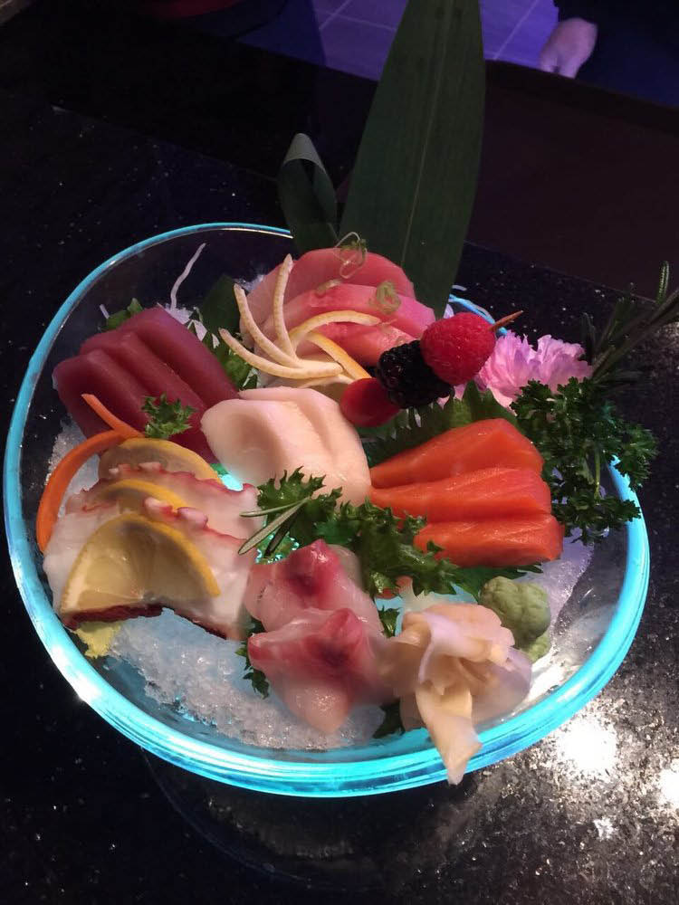 Assorted fresh sashimi plate at Tao Asian near Cayce, SC