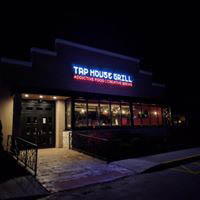 Exterior restaurant Tap House Grill at night