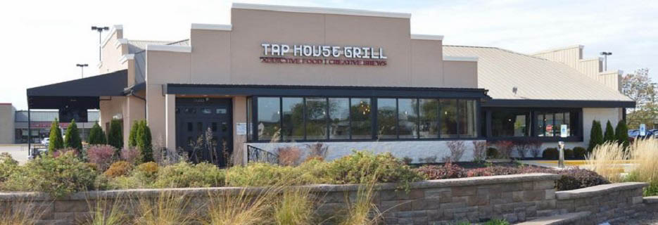 Exterior of Tap House Grill in Hanover Park banner