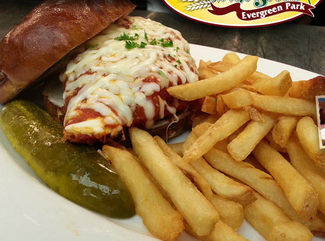 Chicken Parm sandwich.