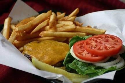 hamburgers and fries; cheeseburgers