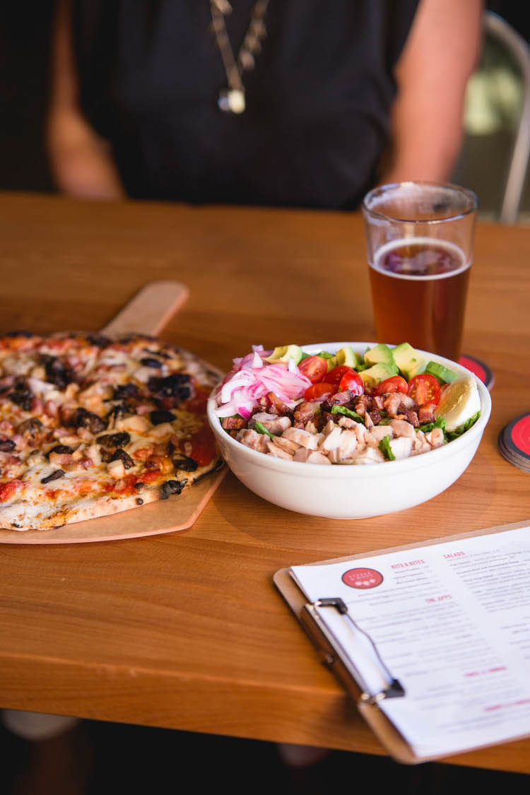 Dine on our pizza & salad and drink our craft beers