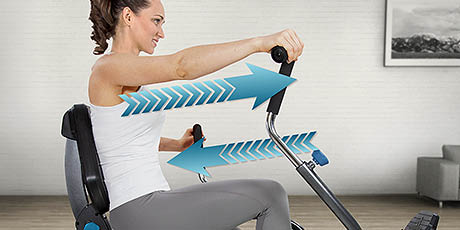 Joint-friendly exercise machine - Teeter Recumbent Cross Trainer - exercise in the privacy of your own home - exercise equipment