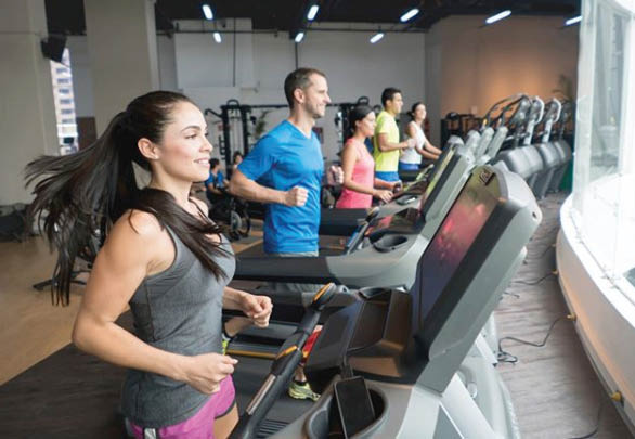 Texas Family Fitness - huge cardio room - large selection of cardio machines - treadmills - step machines - rowing machines - get fit and strong - Garland health clubs near me - Lewisville fitness clubs near me