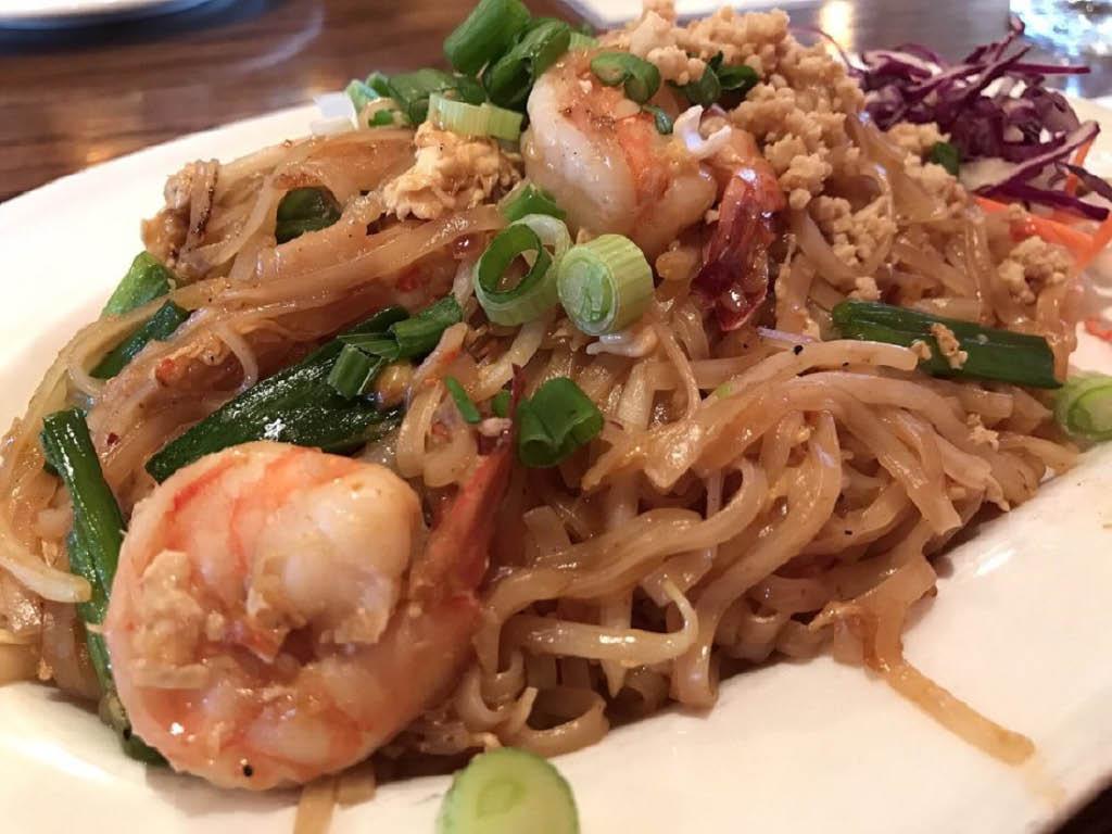 Mouthwatering Phad Thai from Benjarong Thai - Monroe, WA - Monroe Thai restaurants near me - Thai food near me - dining near me - dining coupons near me