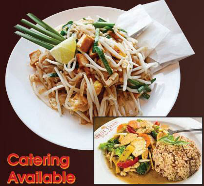 Thai House prepared Thai food dishes; catering available