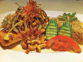 Salmon Lemongrass at Thai Ping Restaurant in Boonton NJ