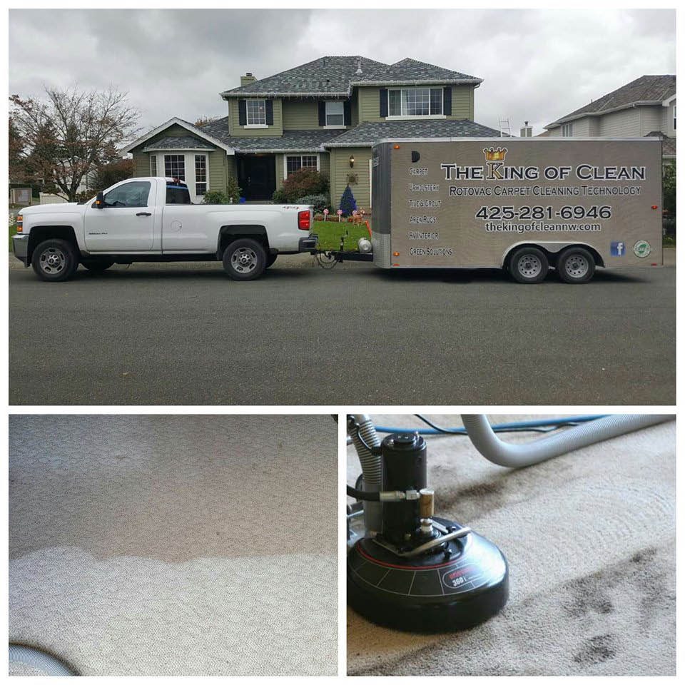 Professional carpet cleaning - The King of Clean - carpet cleaners in Enumclaw, WA - Enumclaw carpet cleaners