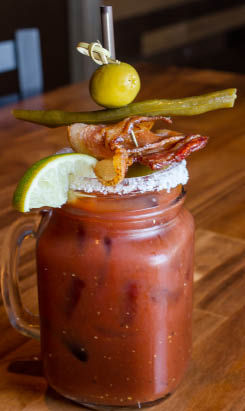 Bloody Marys and Mimosas from The Mil Restaurant & Sports Bar in Milton, WA