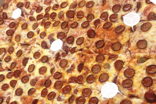 Sheet pepperoni pizza