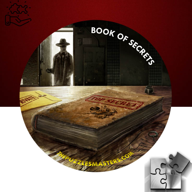 Book of Secrets 60 minute real life escape experience - The Puzzle Masters Escape Rooms - Spanaway, WA - entertainment near me