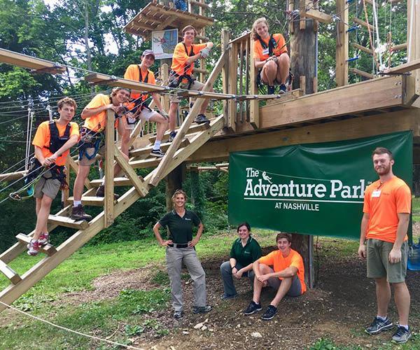 the adventure park at nashville group photo