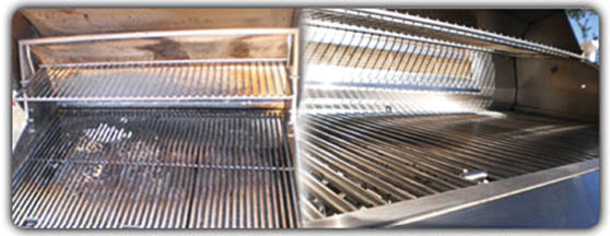 Before and after grill cleaning service near Weston, NE